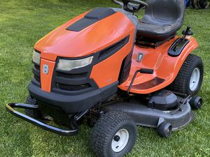 Husqvarna YTH2348 Riding Mower w/tune up belt blades battery for Sale in Gambrills, MD