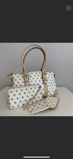 Dooney & Bourke Monogram Canvas Bag with Accessories for Sale in Orange, CA