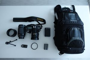 Nikon D80 with Camera Bag, Lenses and Accersories for Sale in San Diego, CA