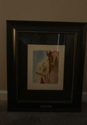 Salvador Dali Limited Edition Lithograph for Sale in Naperville, IL