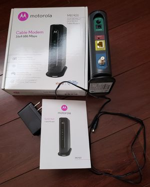 MOTOROLA 16x4 Cable Modem for Sale in San Diego, CA