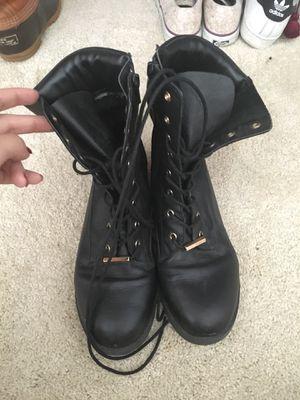 Black Aldo combat boots for Sale in Atlanta, GA