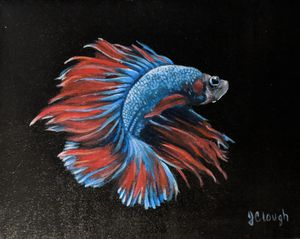 Original Betta fish painting. One of a kind. Signed by artist (me). 9x12 for Sale in Newburyport, MA
