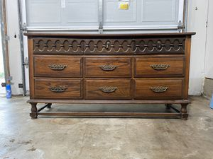 Mcm mid century modern dresser drawer bedroom furniture buffet cabinet media console table tv stand side table for Sale in Arlington, TX