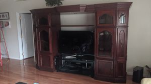 Wood Entertainment Center for Sale in Clermont, FL