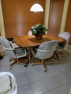 MARKED DOWN! KITCHEN Kitchen Table with Rolling Chairs for Sale in Pflugerville, TX