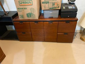 Heave wood filing cabinet for Sale in Yorktown, VA