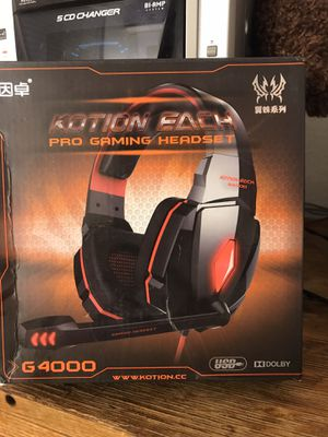 Kotion Each pro gaming headset pc 2 in Plug in &usb for Sale in Corona, CA