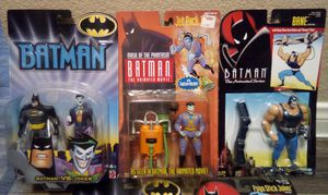 Collection of five Batman action figures including Catwoman and Joker all sealed for Sale in Las Vegas, NV