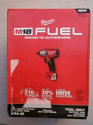 """Milwaukee M18 fuel brushless 3/8"""" impact wrench with friction ring TOOL ONLY for Sale in San Jose, CA"""