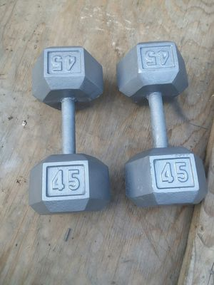 A set of 45Lb Hex Dumbbells. $60 Firm for Sale in Downey, CA