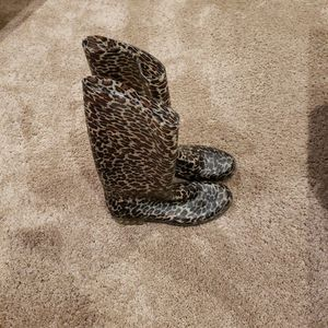 Leopard print rain boots size 10 womans for Sale in Glen Mills, PA