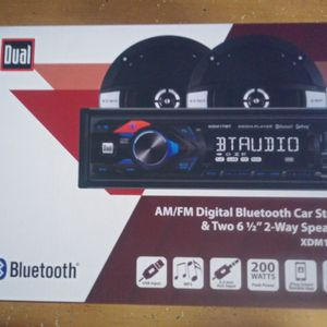Dual Bluetooth AM/FM Digital Bluetooth Car Stereo for Sale in La Puente, CA