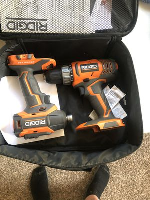 Ridgid drill and driver set and battery pack set for Sale in Taylors, SC