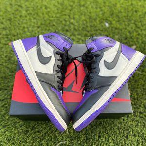 Court purple Jordan 1s for Sale in Grand Prairie, TX
