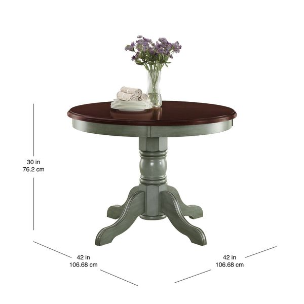 New Better Homes and Gardens Cambridge Place Dining Table DESCRIPTION:This modern table adds a contemporary feel to your dining room or kitchen area