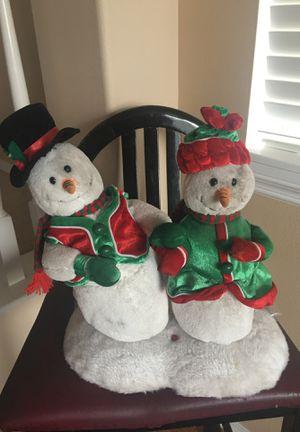 Dancing & singing snowmen for Sale in Temecula, CA