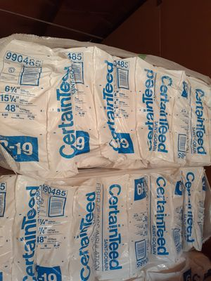 Insulation for ceiling and walls 2x6 R19x16 cover 91 square feet each bag the price is for each for Sale in Corona, CA
