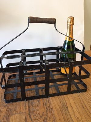Antique French Bottle holder vintage for Sale in Seattle, WA