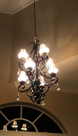 Chandelier. 56 inch high. Good conditions for Sale in Fort Lauderdale, FL