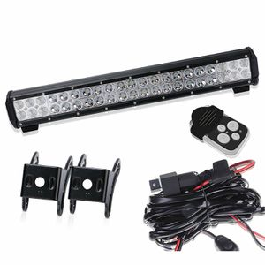 TURBOSII Osram Chips 20 inch LED Light Bar on Front Rear Bumper Brush Bull Bar Grille Reverse Trails Led Lights for Ford F150 F250 F350 Ranger Jeep for Sale in Ontario, CA