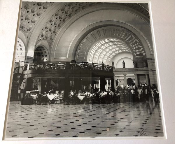 Black/White Photograph of Union Station in DC