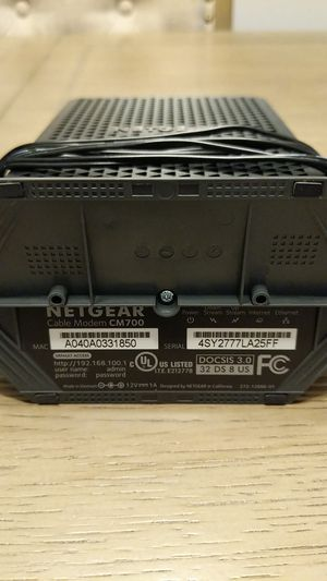 Netgear CM700 Cable Modem for Sale in Puyallup, WA
