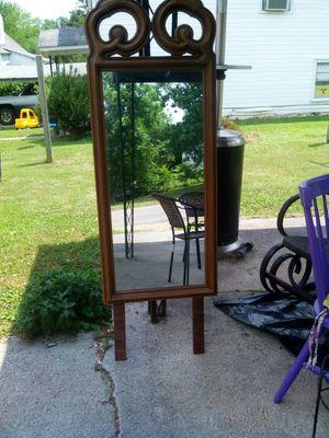 Standing wooden mirror for Sale in Roanoke, VA