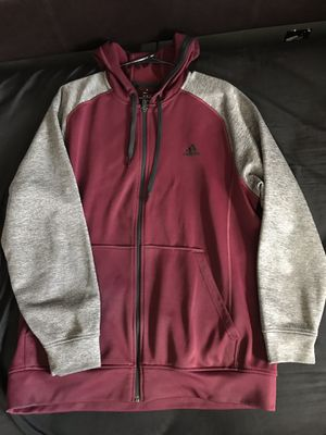 Adidas Climawarm Jacket Hoodie Maroon burgundy men's XL for Sale in Denver, CO