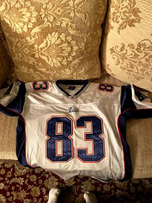 Wes Welker Patriots Jersey Size 48 White for Sale in La Mesa, CA