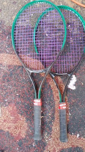 Two black purple and green Spalding tennis racket for Sale in Phoenix, AZ
