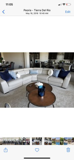 Living Spaces leather sectional—- New!!!!! for Sale in Scottsdale, AZ