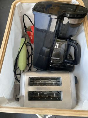 Coffee maker, cuisinart toaster & stick blender for Sale in Beverly Hills, CA