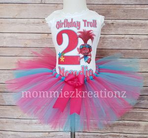 Trolls Poppy Tutu Set, Birthday Outfit for Sale in Victorville, CA
