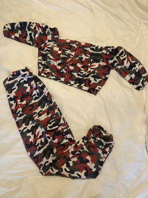 Orange Army Camo Two Piece Pants Set for Sale in McDonough, GA