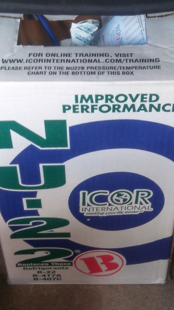 NU22B R22 enhanced replacement refrigerant