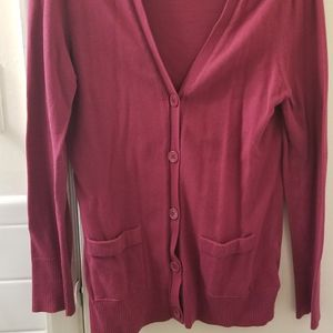 Like New Women's Maroon Cardigan Size Medium (8-10) for Sale in Baltimore, MD