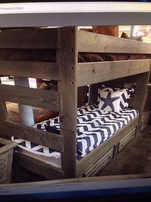 Rugged twin over twin bunk bed color choice for Sale in Chandler, AZ