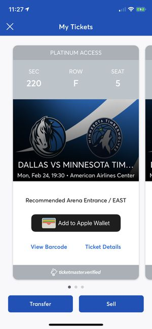 Mavs Tickets For Sale for Sale in Frisco, TX