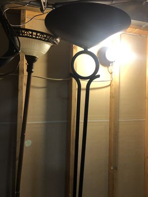 Tall black floor lamp for Sale in Columbus, OH