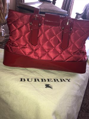 Authentic Burberry Red Quilted Tote Bag for Sale in El Cajon, CA