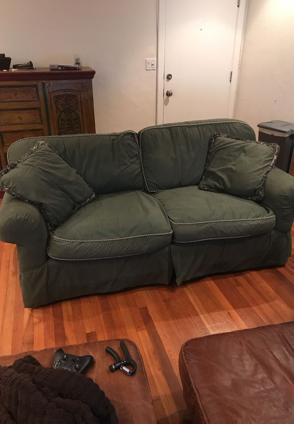 Bloomingdales Green Couch