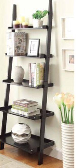 New!! Bookcase, 5 shelf ladder bookcase, bookshelves, organizer, living room furniture, storage unit for Sale in Phoenix, AZ