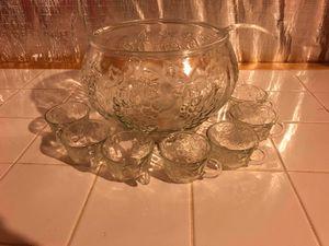 Crystal punch bowl set for Sale in Clarksburg, MD