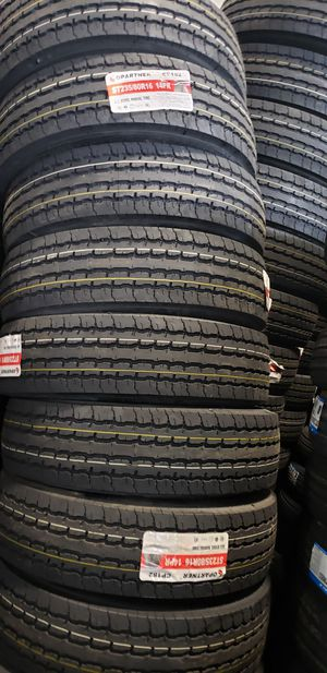 235/80/16 NEW TRAILER TIRES 14PLY FOR 150 EACH WITH EVERYTHING INCLUDED TAX INCLUDED FINANCING AVAILABLE NO CREDIT CHECK, 90 DAYS SAME AS CASH for Sale in Houston, TX