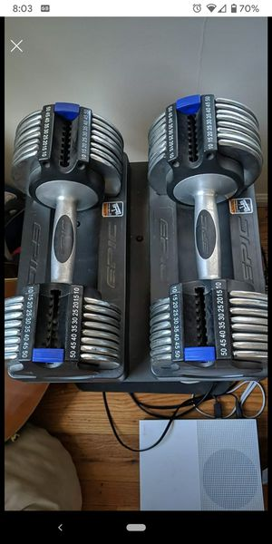 Adjustable Epic Power Set Dumbbells and stand 10-50lbs for Sale in San Diego, CA