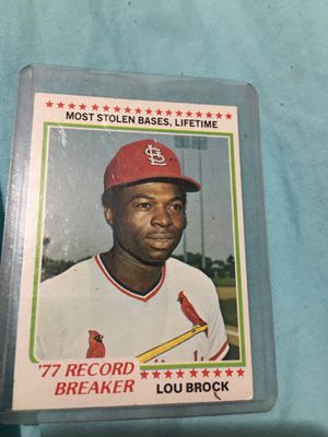 Lou Brock card #1 for Sale in Livermore, CA
