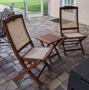 Teak wood chairs and table for Sale in Boynton Beach, FL