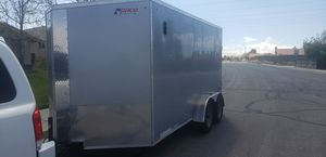 2020 Pace Journey SE enclosed cargo tandem trailer ramp side door electric breaks like new for Sale in Hesperia, CA