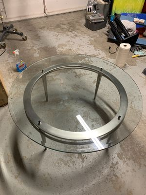 Mid Century Round Top Glass Coffee Table - $150 for Sale in Irvine, CA